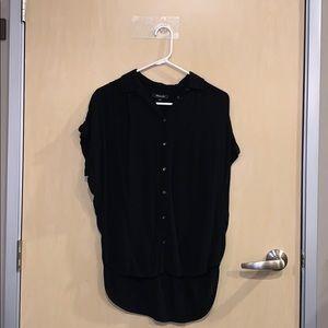 Madewell Black Button Down Short Sleeve Tshirt